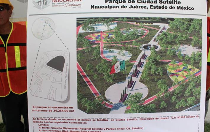 Anuncian inversión de 15 millonespara rehabilitar parque, en Satélite